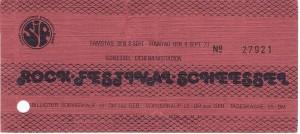 Eintrittskarte Scheeßel 1973