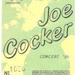 Joe Cocker Ticket Osnabrück 1984