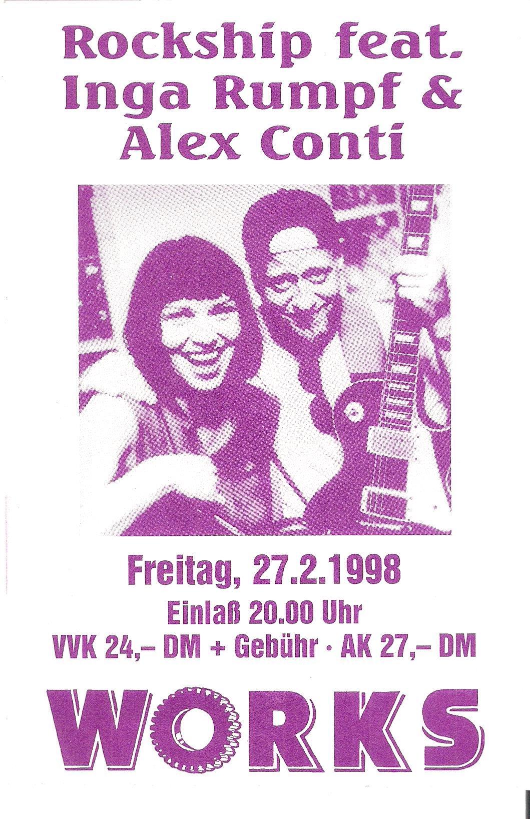 Inga Rumpf, Alex Conti