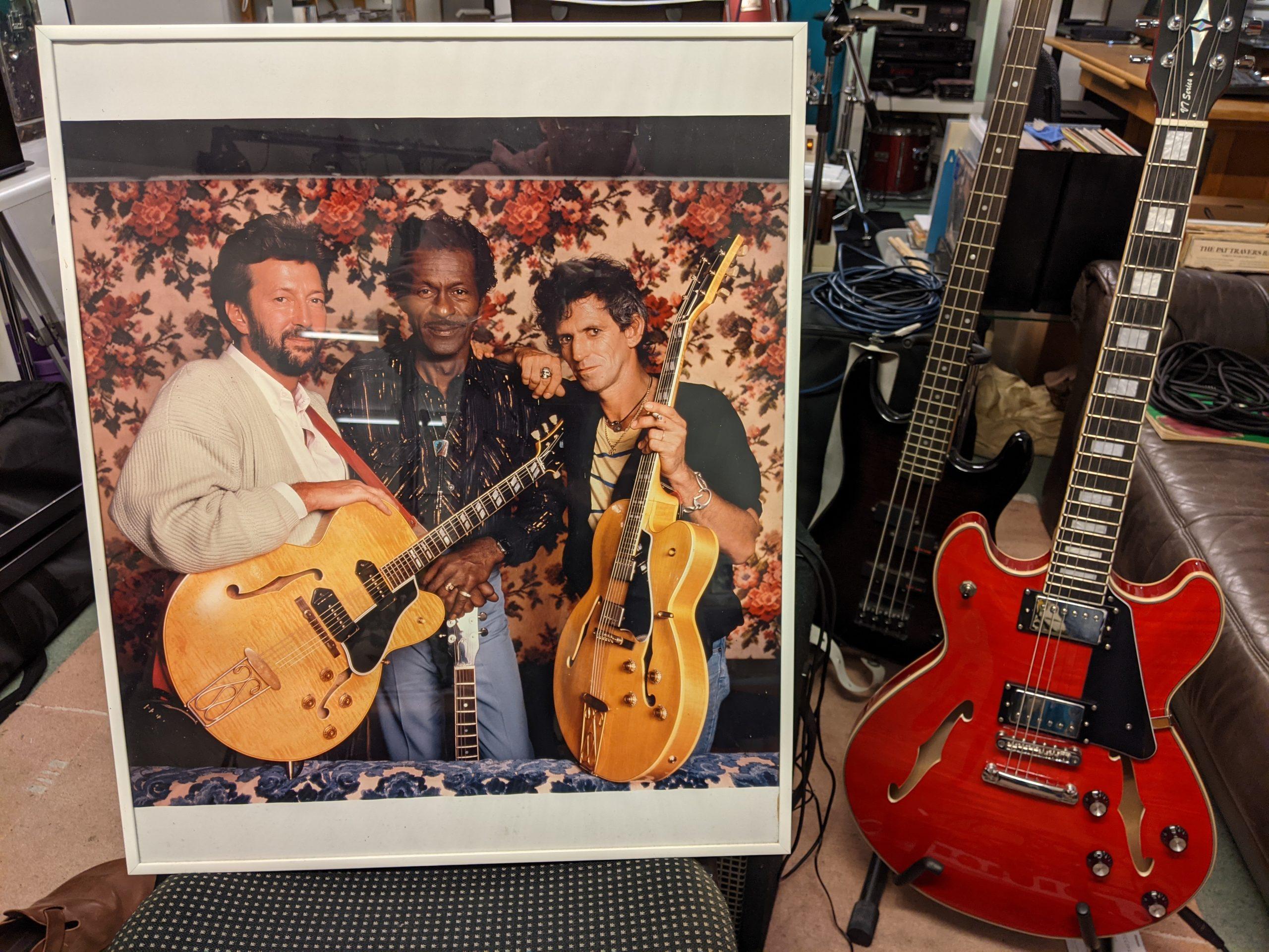 Eric Clapton, Chuck Berry, Keith Richards